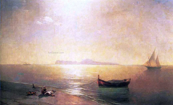 Ivan Constantinovich Aivazovsky Calm on the Mediterranean Sea - Canvas Art Print
