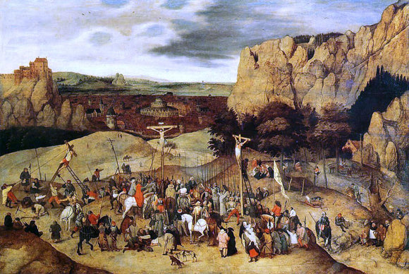 The Younger Pieter Bruegel Calvary - Canvas Art Print