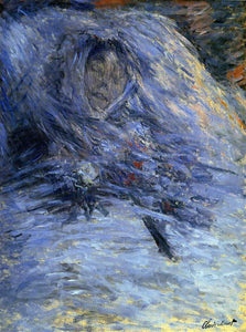Claude Oscar Monet Camille Monet on Her Deathbed - Canvas Art Print