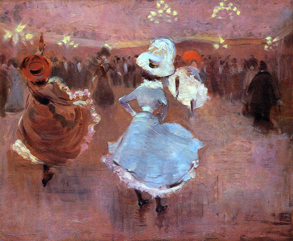 Jean-Louis Forain Can-Can Dancers - Canvas Art Print