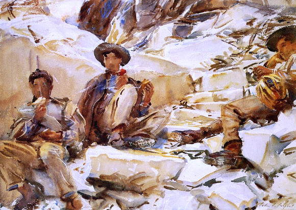 John Singer Sargent Carrara: Workmen - Canvas Art Print