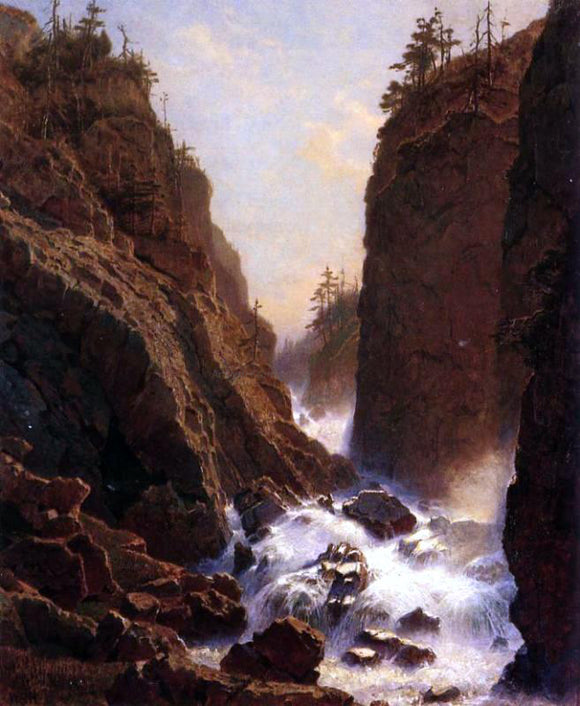 William Stanley Haseltine Cascade - Canvas Art Print
