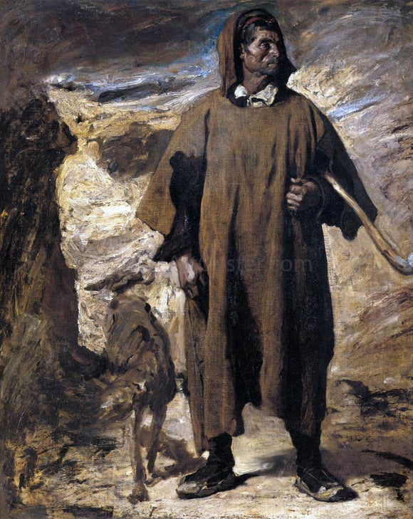 Henri Georges Regnault Castilian Mountain Shepherd - Canvas Art Print