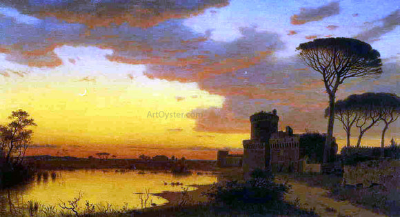 William Stanley Haseltine Castle at Ostia, Lazio, Italy - Canvas Art Print