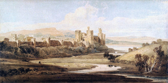 Thomas Girtin Castle Conway from the River Gyffin - Canvas Art Print
