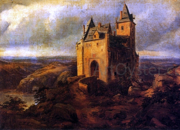Carl Friedrich Lessing Castle in a Landscape - Canvas Art Print