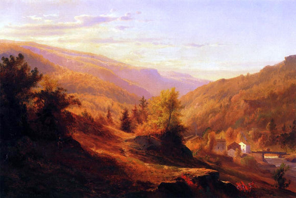 Johann Hermann Carmiencke Catskill Cove - Canvas Art Print
