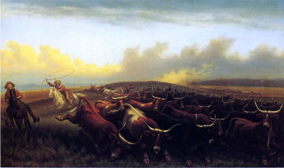 James Walker Cattle Drive No. 1 - Canvas Art Print