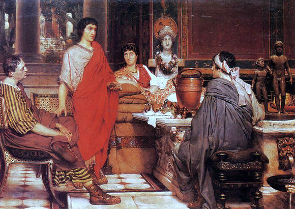 Sir Lawrence Alma-Tadema Catullus at Lesbia's - Canvas Art Print