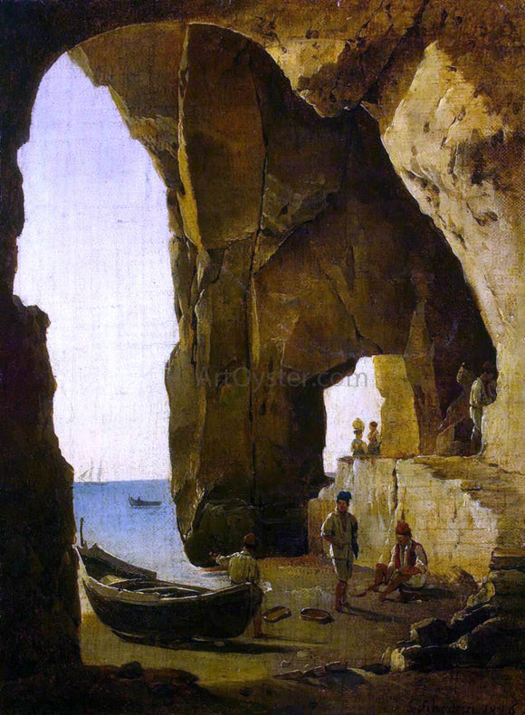 Silvester Fedosyevich Shchedrin Cave in Sorrento - Canvas Art Print