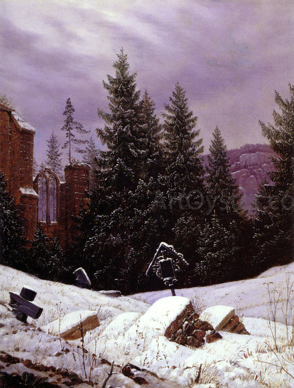 Carl Gustav Carus Cemetary on Mount Oybin - Canvas Art Print