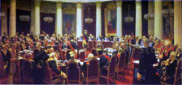 Ilia Efimovich Repin Ceremonial Meeting of the State Council - Canvas Art Print