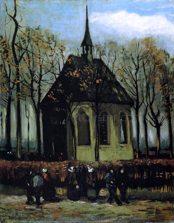 Vincent Van Gogh Chapel at Nuenen - Canvas Art Print