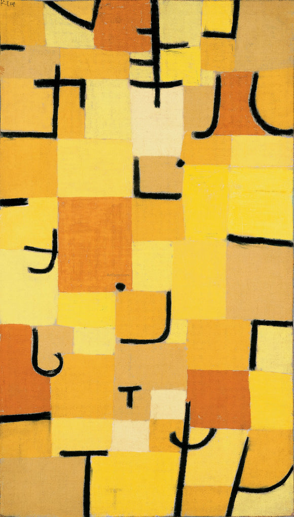 Paul Klee Characters in Yellow - Canvas Art Print