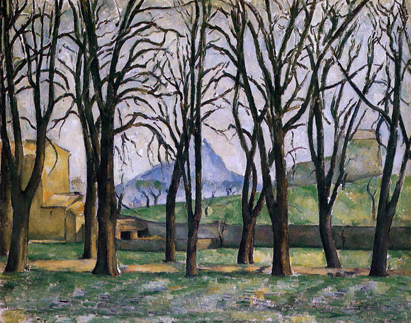 Paul Cezanne Chestnut Trees at the Jas de Bouffan - Canvas Art Print