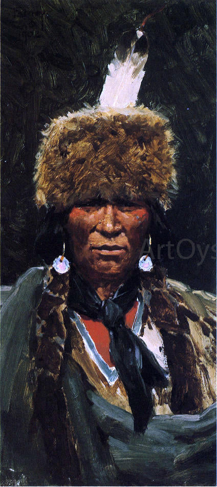 Henry F Farney Chief Ogallala Fire - Canvas Art Print