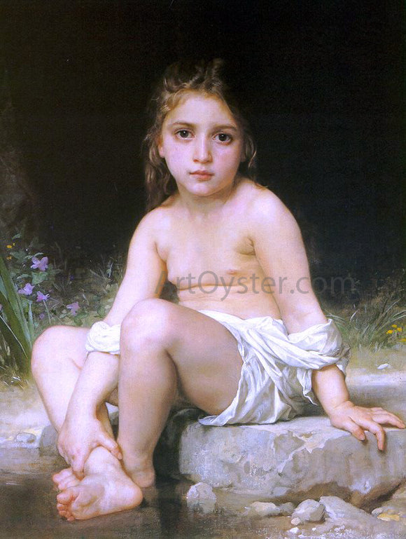 William Adolphe Bouguereau A Child at Bath - Canvas Art Print