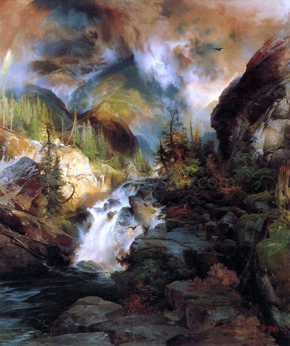 Thomas Moran Children of the Mountain - Canvas Art Print