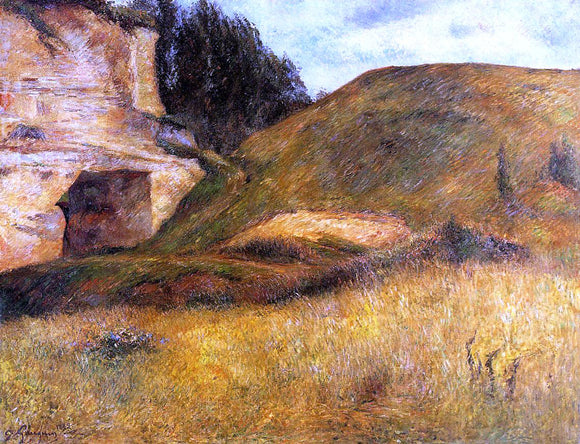Paul Gauguin Chou Quarry, Hole in the Cliff - Canvas Art Print