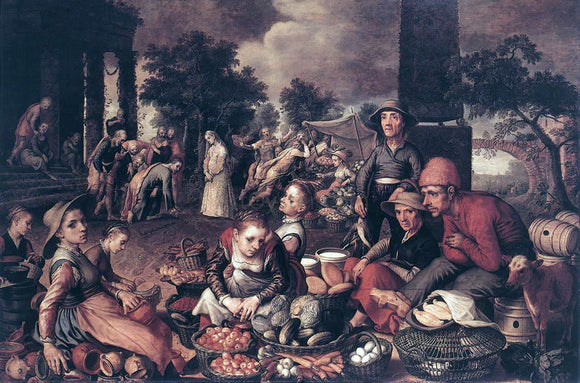 Pieter Aertsen Christ and the Adulteress - Canvas Art Print