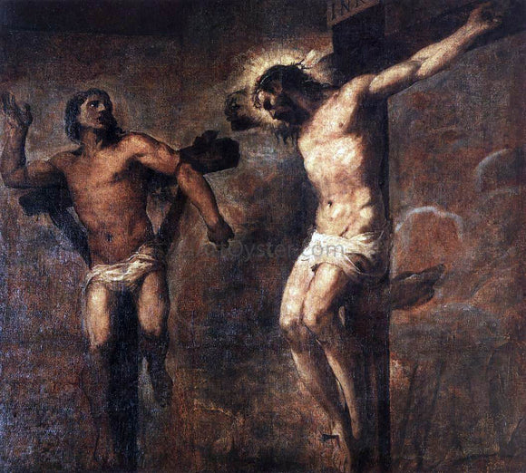 Titian Christ and the Good Thief - Canvas Art Print
