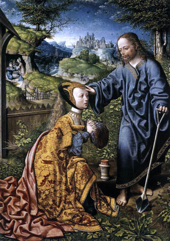Jacob Cornelisz Van Oostsanen Christ Appearing to Mary Magdalen as a Gardener - Canvas Art Print