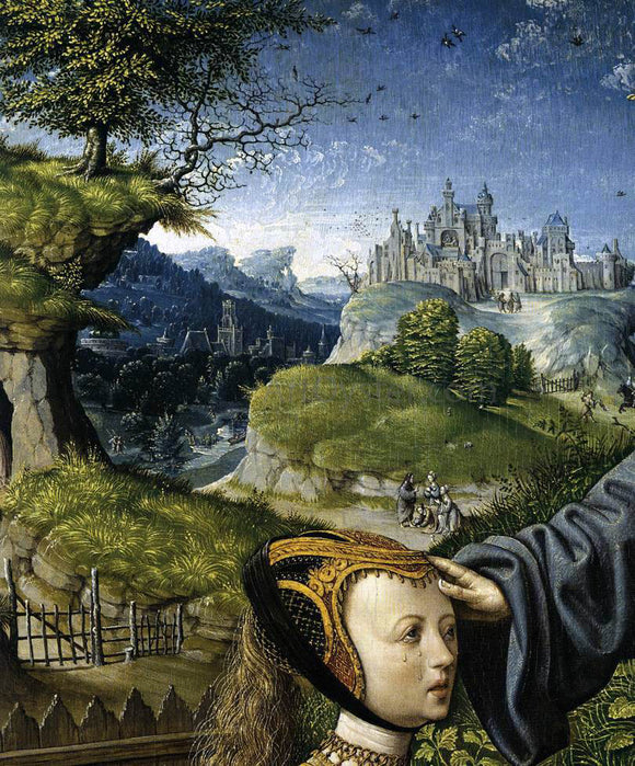 Jacob Cornelisz Van Oostsanen Christ Appearing to Mary Magdalen as a Gardener (detail) - Canvas Art Print