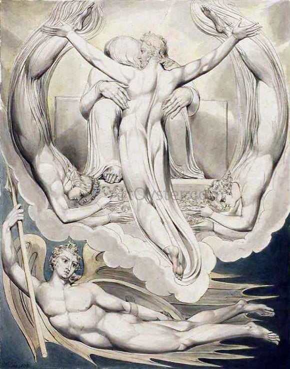 William Blake Christ as the Redeemer of Man - Canvas Art Print