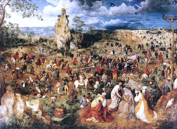 The Elder Pieter Bruegel Christ Carrying the Cross - Canvas Art Print