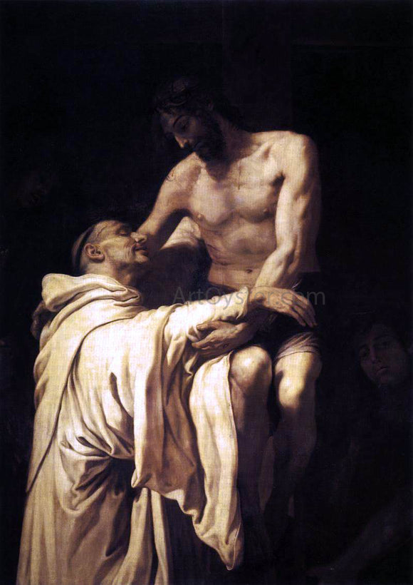 Francisco Ribalta Christ Embracing St Bernard - Canvas Art Print