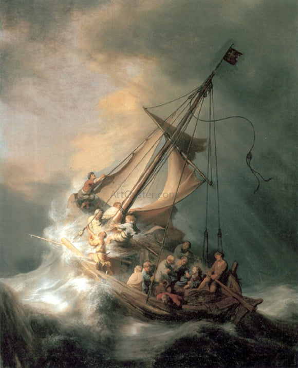 Rembrandt Van Rijn Christ in the Storm - Canvas Art Print
