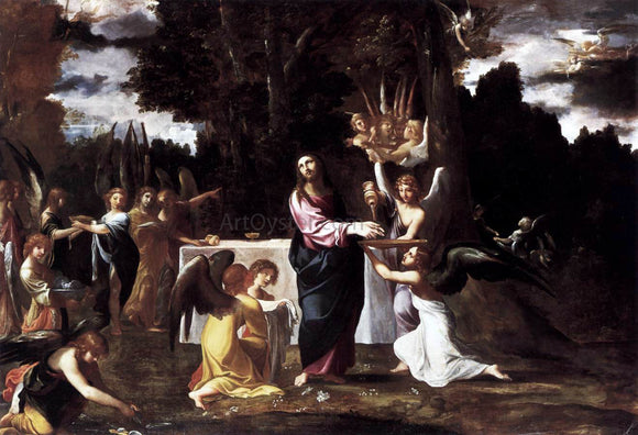 Lodovico Carracci Christ Served by Angels in the Wilderness - Canvas Art Print
