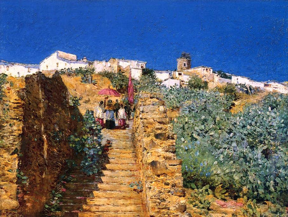 Frederick Childe Hassam Church Procession, Spanish Steps - Canvas Art Print