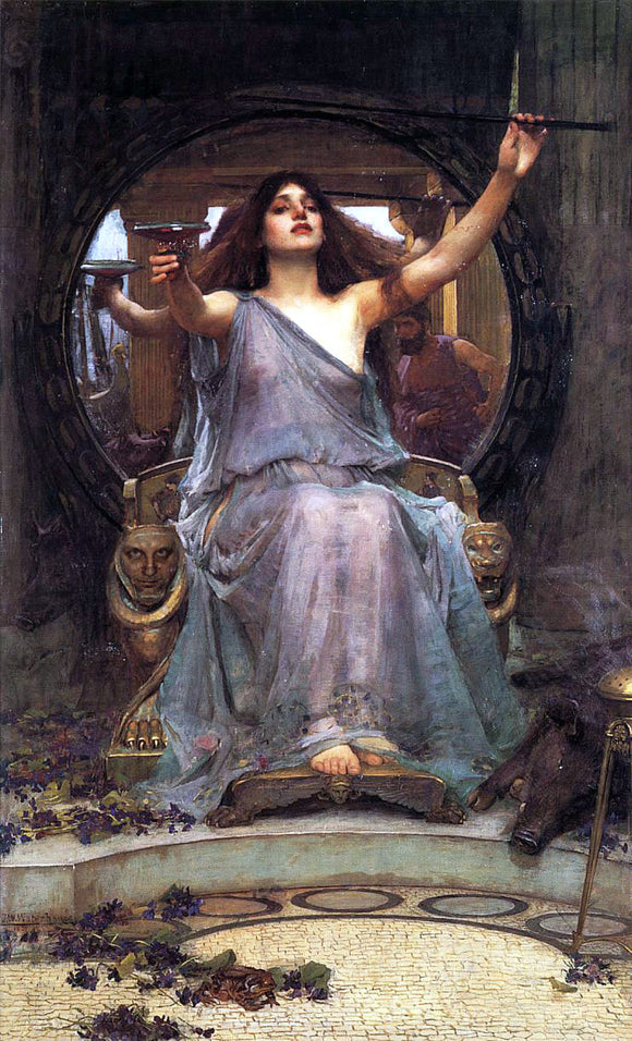 John William Waterhouse Circe Offering the Cup to Odysseus - Canvas Art Print