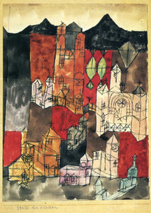 Paul Klee City of Churches - Canvas Art Print