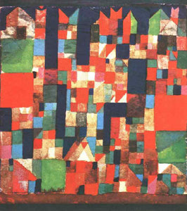 Paul Klee City Picture with Red and Green Accents - Canvas Art Print