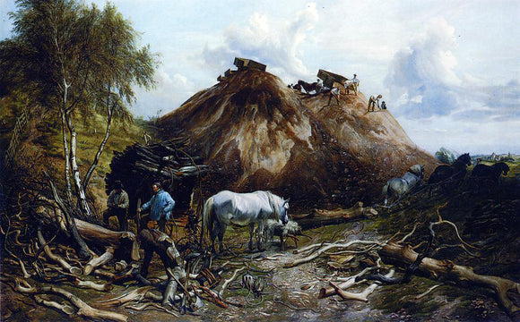 Thomas Sidney Cooper Clearing the Wood for the Iron Way - Canvas Art Print