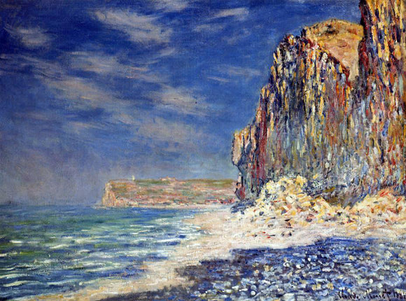 Claude Oscar Monet A Cliff near Fecamp - Canvas Art Print