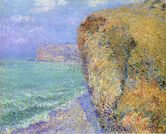 Gustave Loiseau Cliffs at Grainval - Canvas Art Print