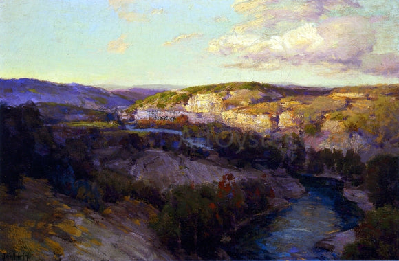 Julian Onderdonk Cliffs on the Guadalupe - Canvas Art Print