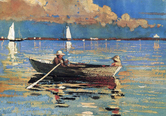 Winslow Homer A Gloucester Harbor - Canvas Art Print