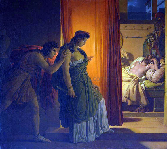 Pierre-Narcisse Guerin Clytemnestra and Agamemnon - Canvas Art Print