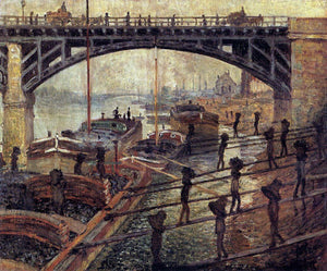 Claude Oscar Monet Coal Dockers - Canvas Art Print