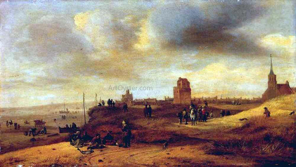 Salomon Rombouts Coast at Scheveningen - Canvas Art Print