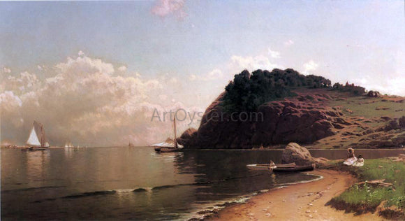 Alfred Thompson Bricher Coastal Scene - Canvas Art Print