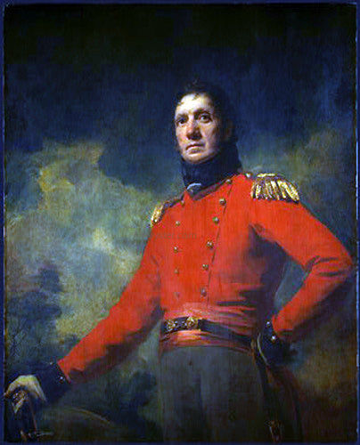 Sir Henry Raeburn Colonel Francis James Scott - Canvas Art Print