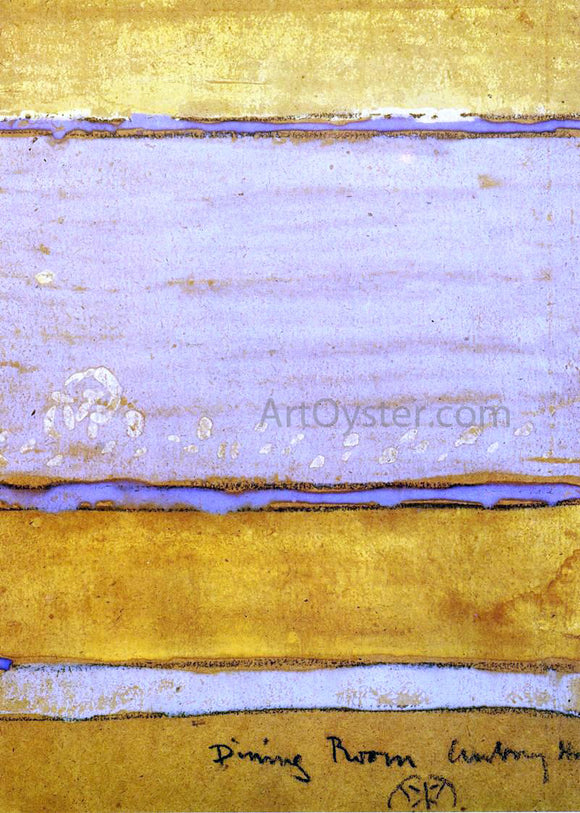 James McNeill Whistler Colour Scheme for the Dining-Room of Aubrey House - Canvas Art Print