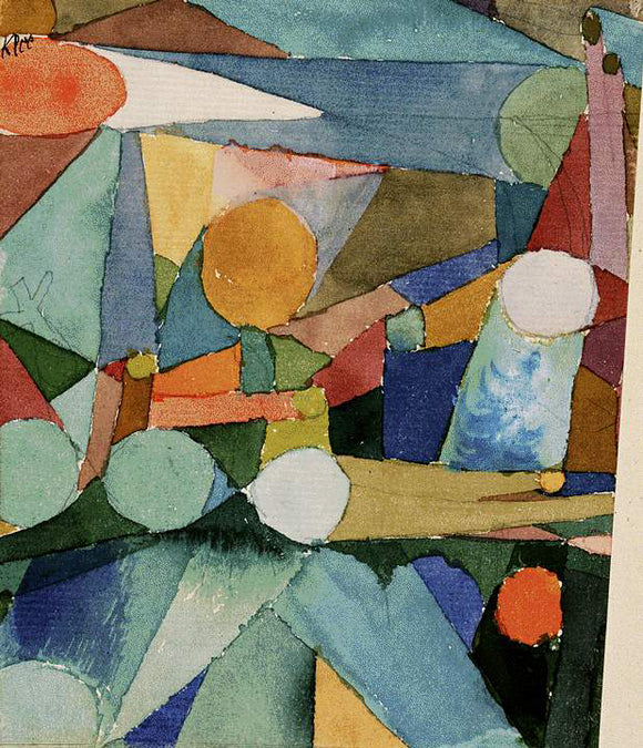 Paul Klee Colour Shapes - Canvas Art Print