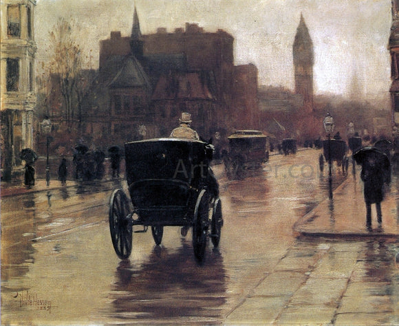 Frederick Childe Hassam Columbus Avenue, Rainy Day - Canvas Art Print