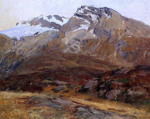 John Singer Sargent Coming Down from Mont Blanc (also known as Hubshorn Mountain, Simplon Pass) - Canvas Art Print
